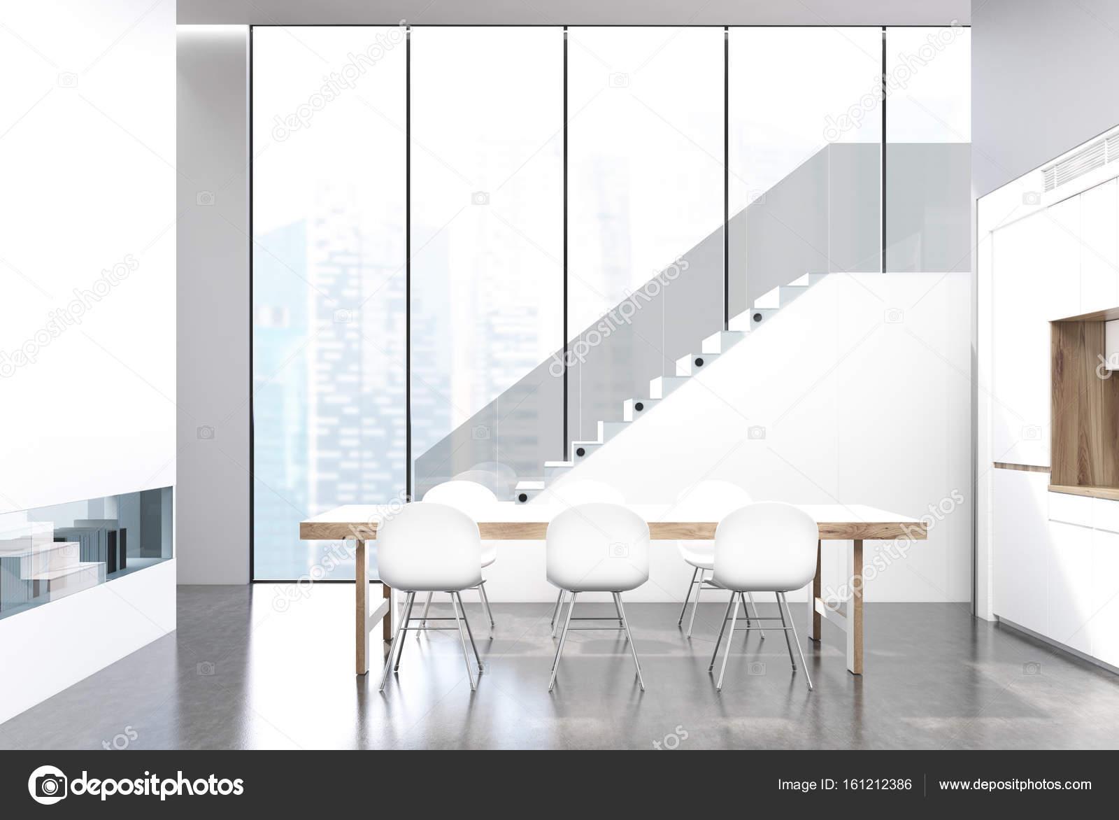 Eetkamer wit interieur — Stockfoto © denisismagilov #161212386