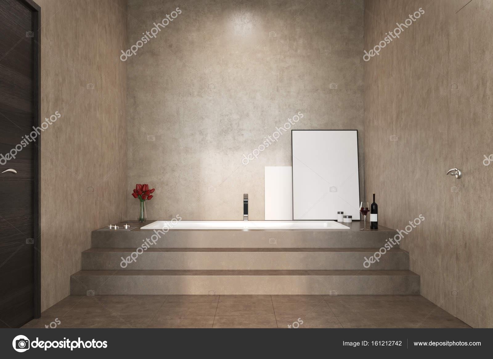 Salle De Bains B Ton Escaliers Et Une Baignoire Photographie