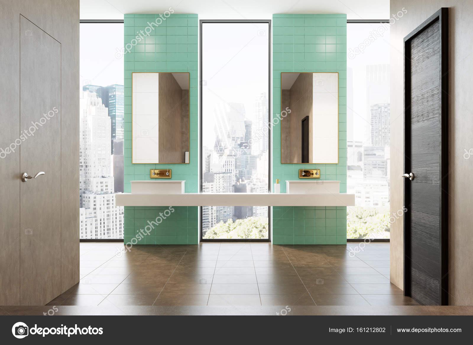 https://st3.depositphotos.com/2673929/16121/i/1600/depositphotos_161212802-stockafbeelding-groene-badkamer-dubbele-wastafel.jpg