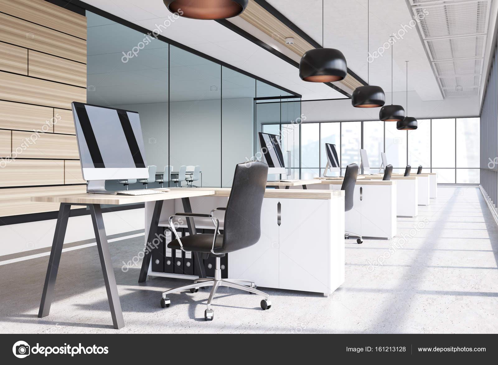 Piante Ufficio Open Space : Ufficio open space in legno computer u2014 foto stock © denisismagilov