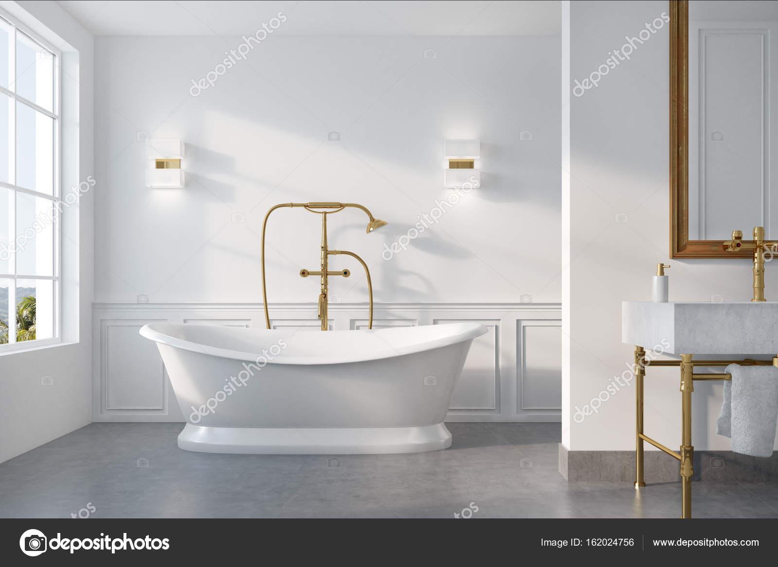 Vintage Badkamer Spiegel : Vintage badkamer interieur witte tub u2014 stockfoto © denisismagilov