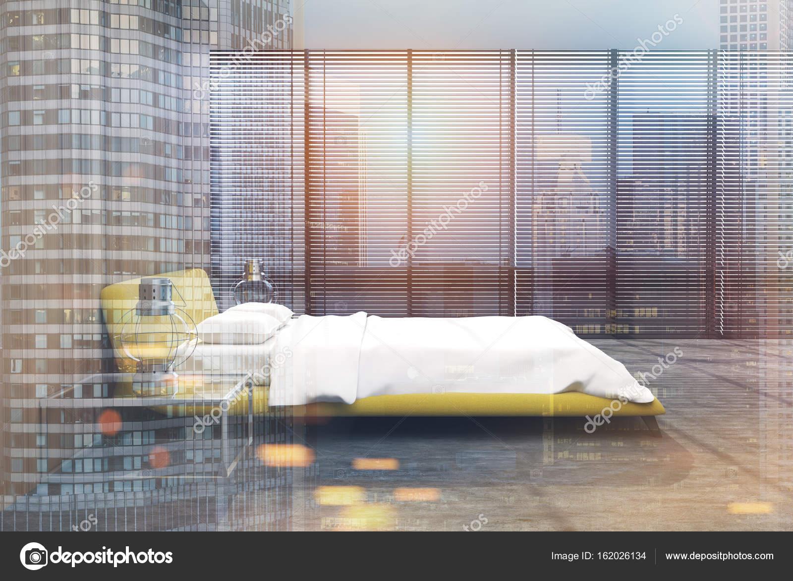 Letto Matrimoniale Giallo : Soppalco camera da letto toni lato giallo letto matrimoniale