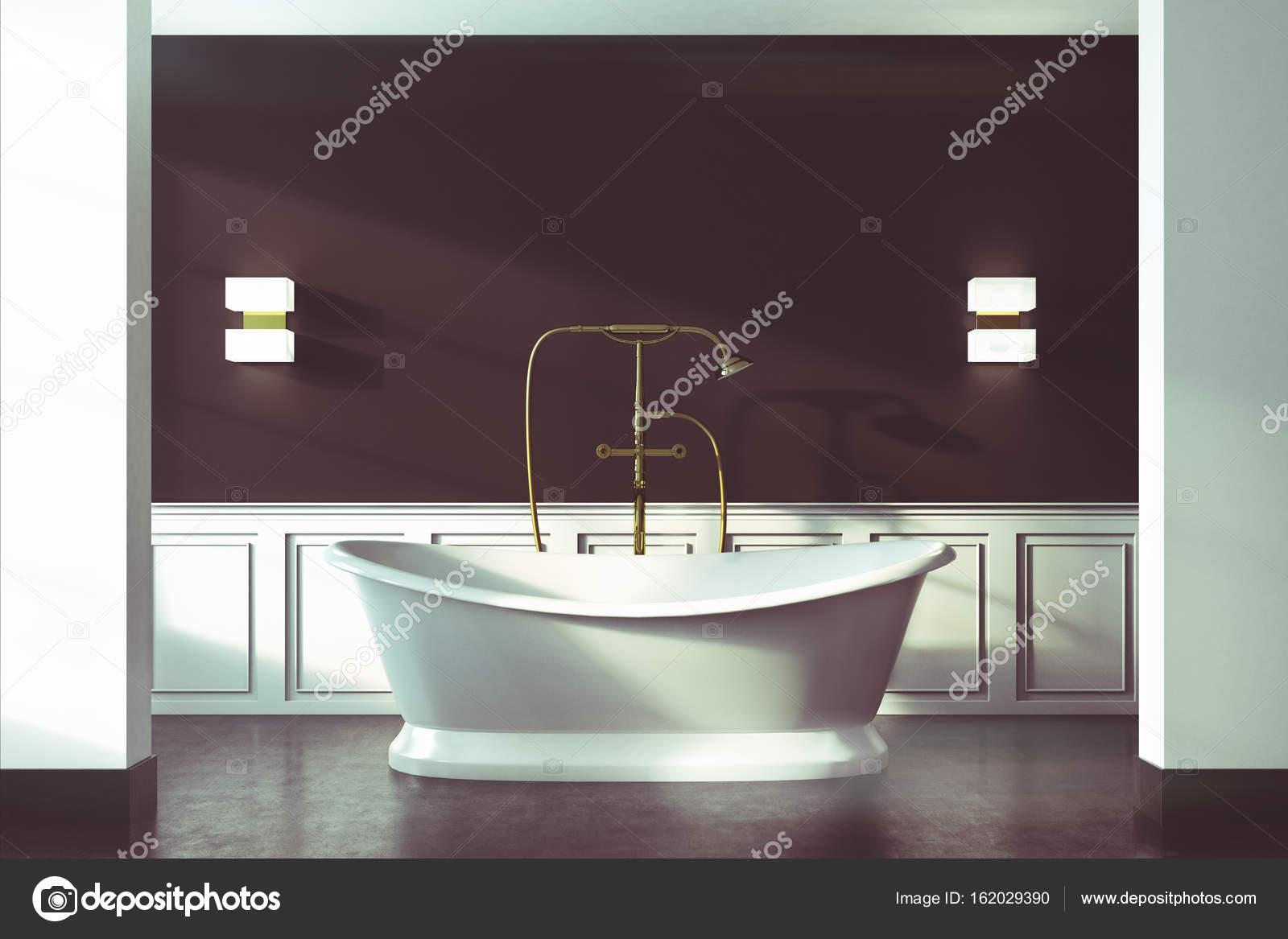Vasche Da Bagno Vintage : Bagno vintage nero vasca bianca chiuda tonica u foto stock