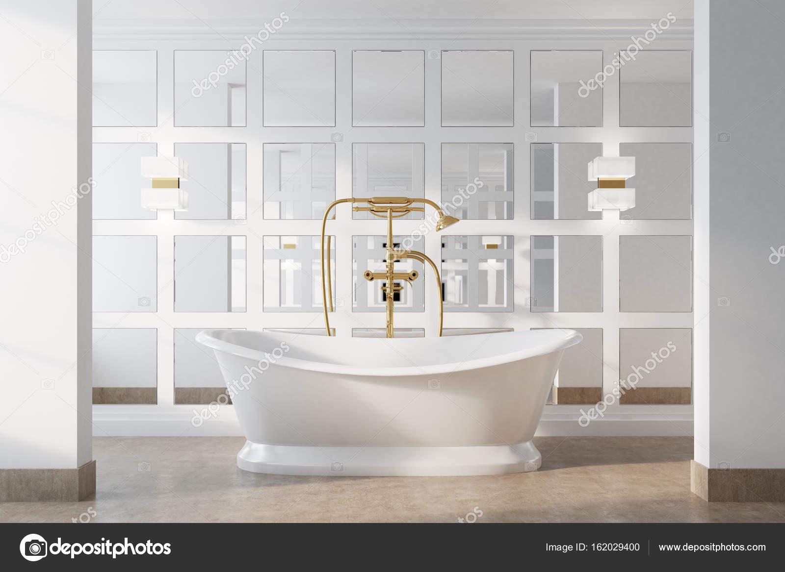 Vintage Bad, weiße Wanne — Stockfoto © denisismagilov #162029400