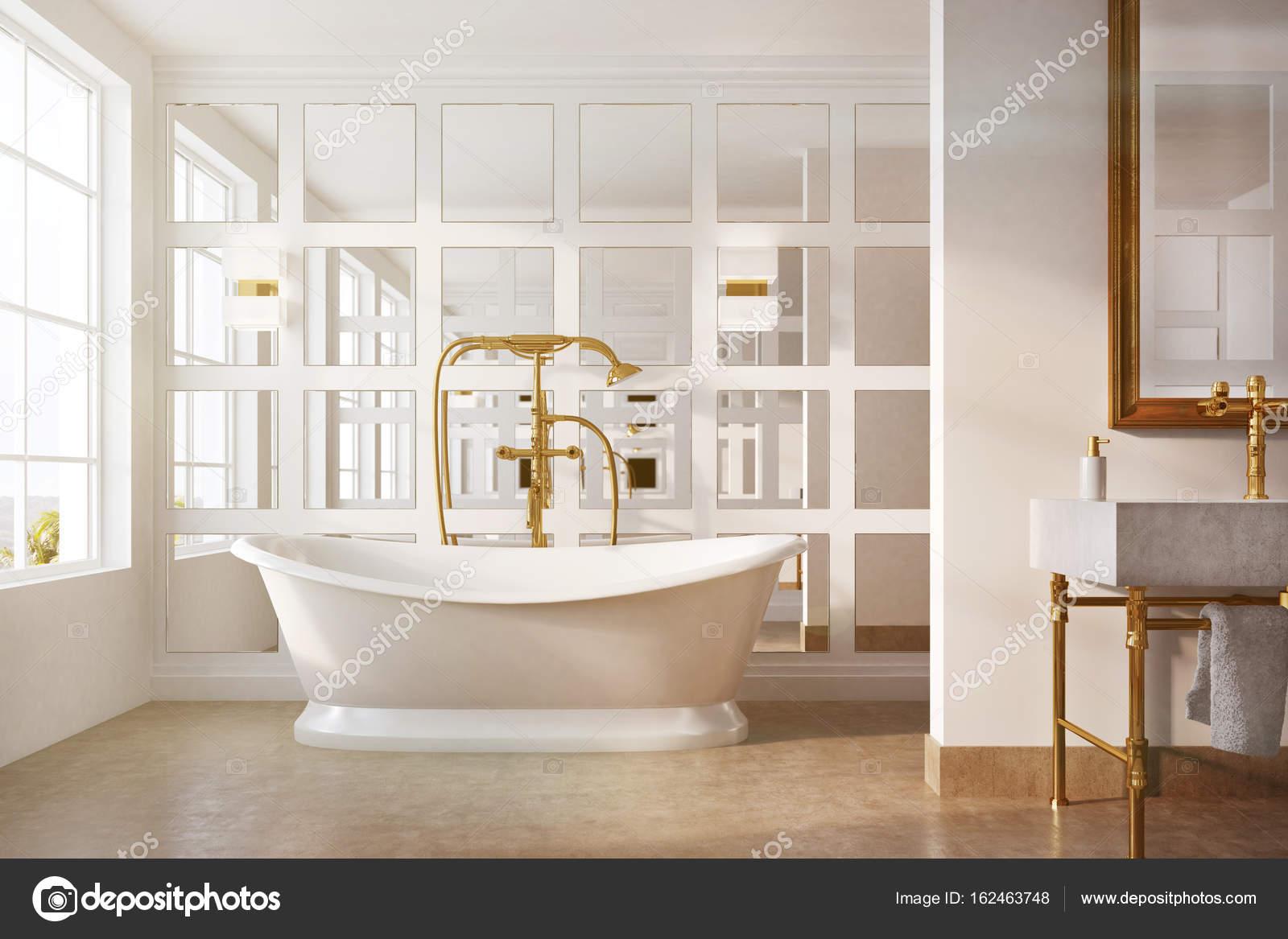 Vasche Da Bagno Vintage Prezzi : Bagno vintage vasca bianca specchio tonico u2014 foto stock