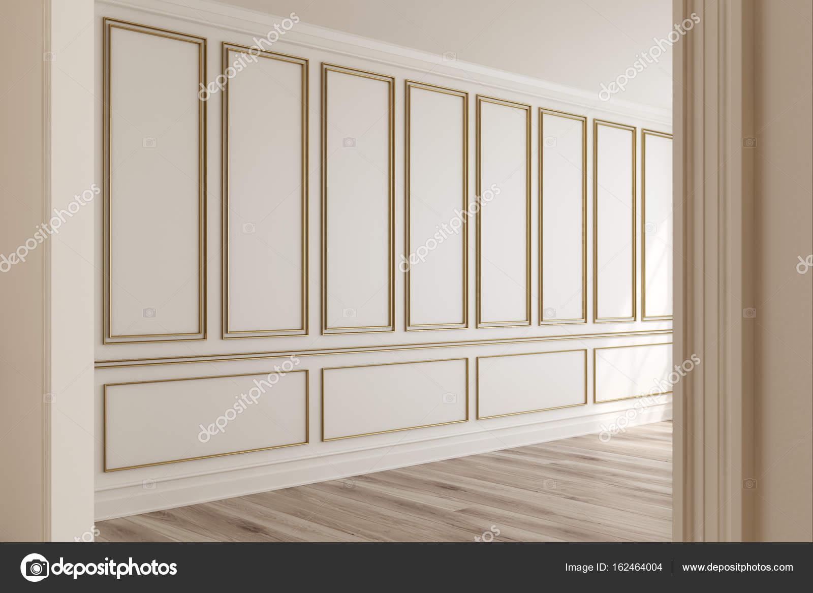 Charmant Leere Beige Zimmer, Seitenansicht U2014 Stockfoto