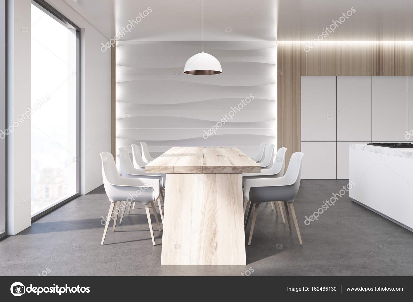 Golvende muur keuken tafel toonbank u stockfoto denisismagilov