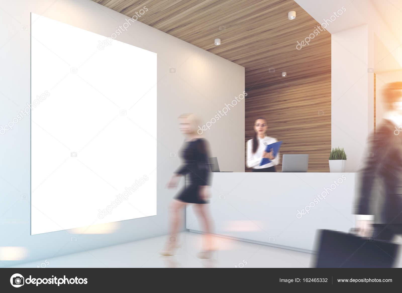 Ufficio Bianco E Legno : Grigio e legno ufficio reception persone u foto stock