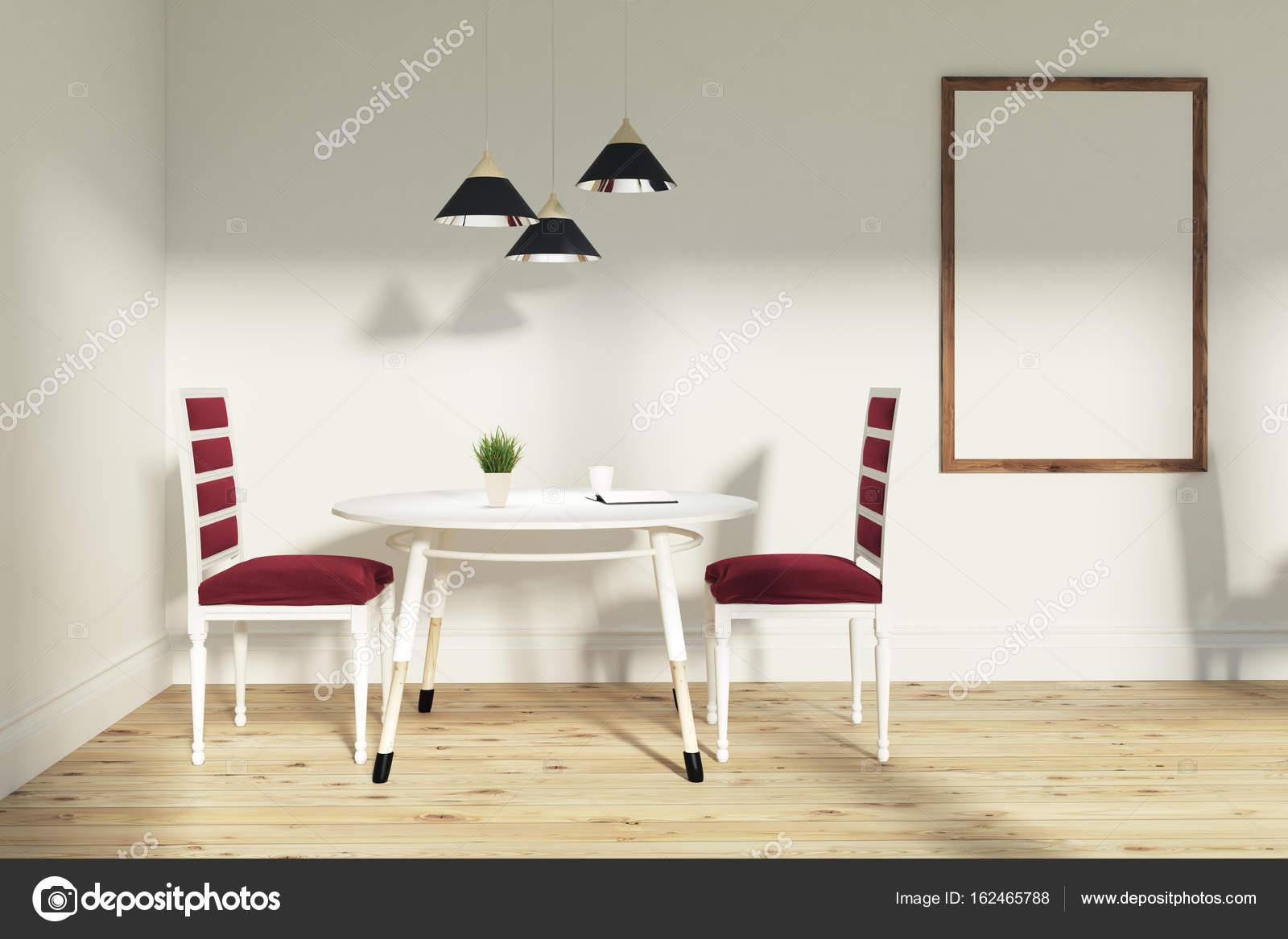 Rode stoelen eetkamer, poster — Stockfoto © denisismagilov #162465788