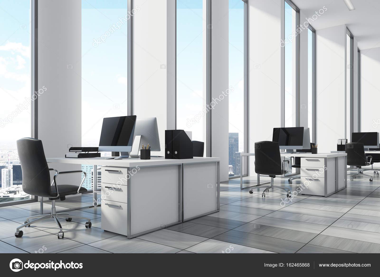 Blanc environnement bureau ouvert coin fermer vers le haut