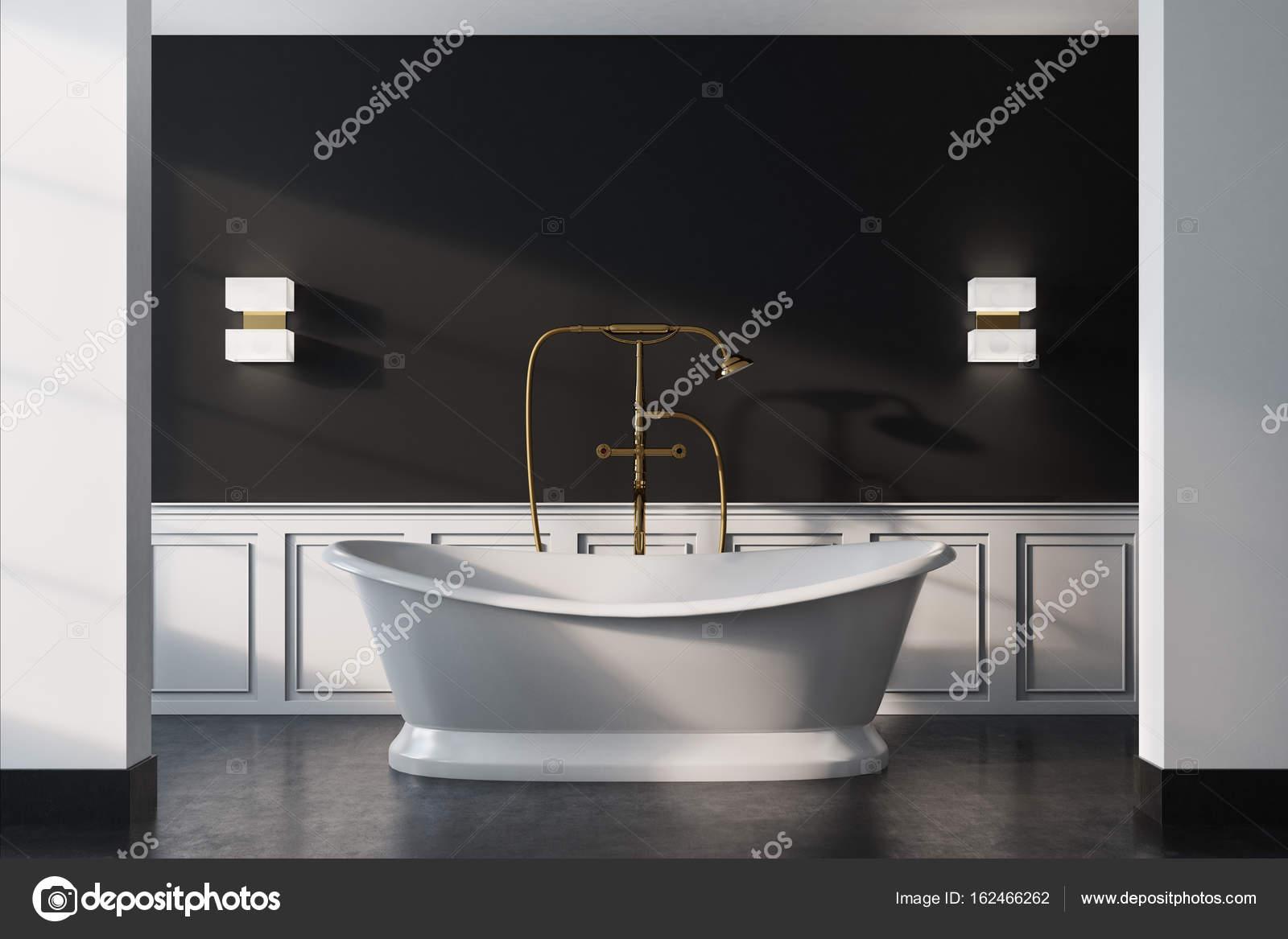 Vasca Da Bagno Vintage Prezzi : Bagno vintage nero vasca bianca primi piani u foto stock