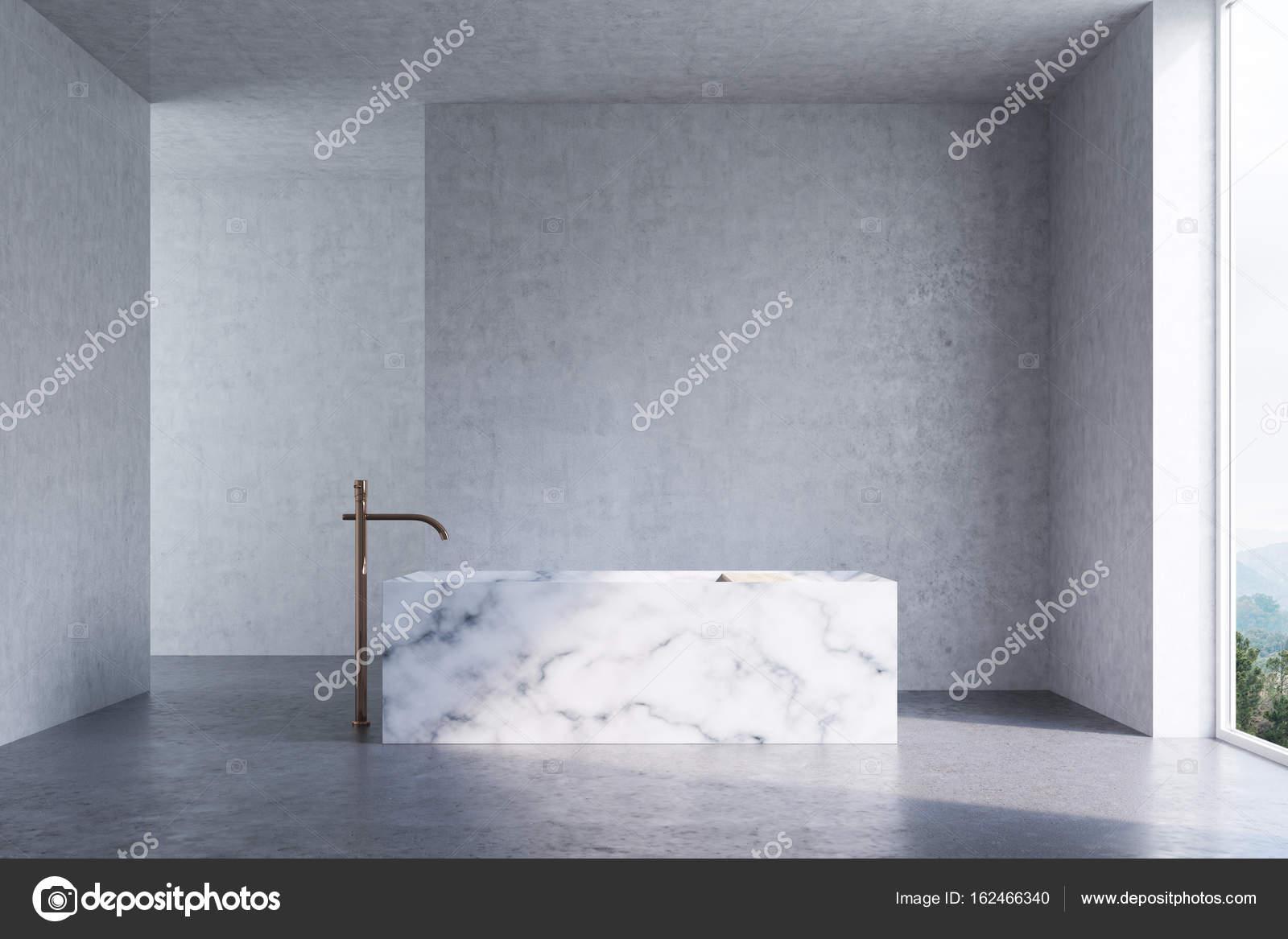Concrete bathroom, marble tub — Stock Photo © denisismagilov #162466340