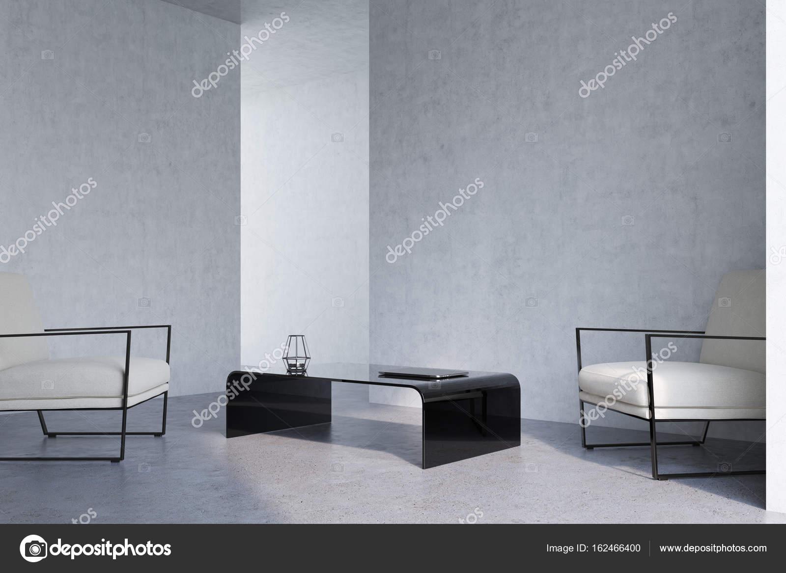 Beton woonkamer, Fauteuils, hoek — Stockfoto © denisismagilov #162466400
