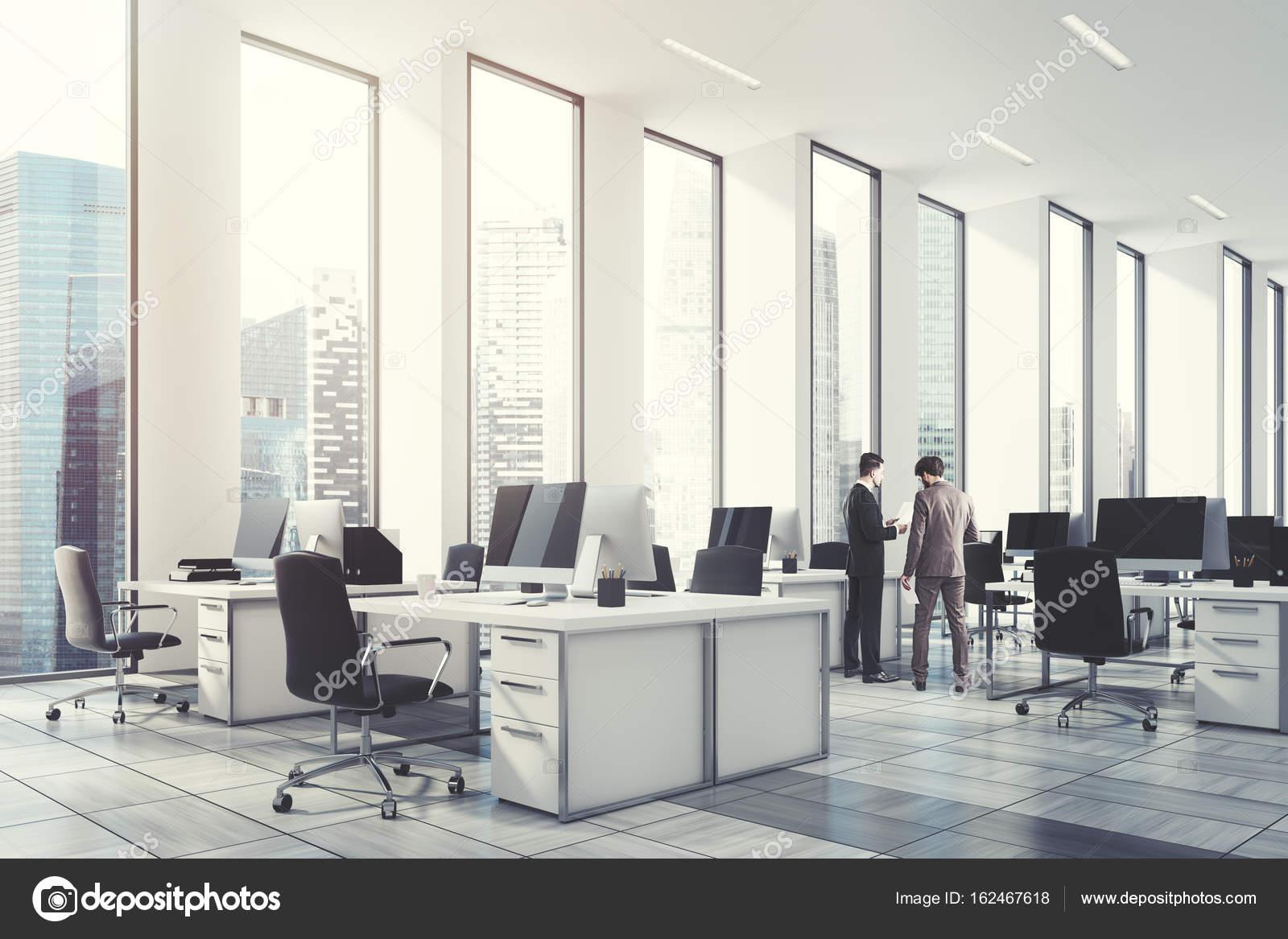 Entonado Oficina AbiertaParedEsquina Foto De Blanco — Stock ChxtsdBrQ
