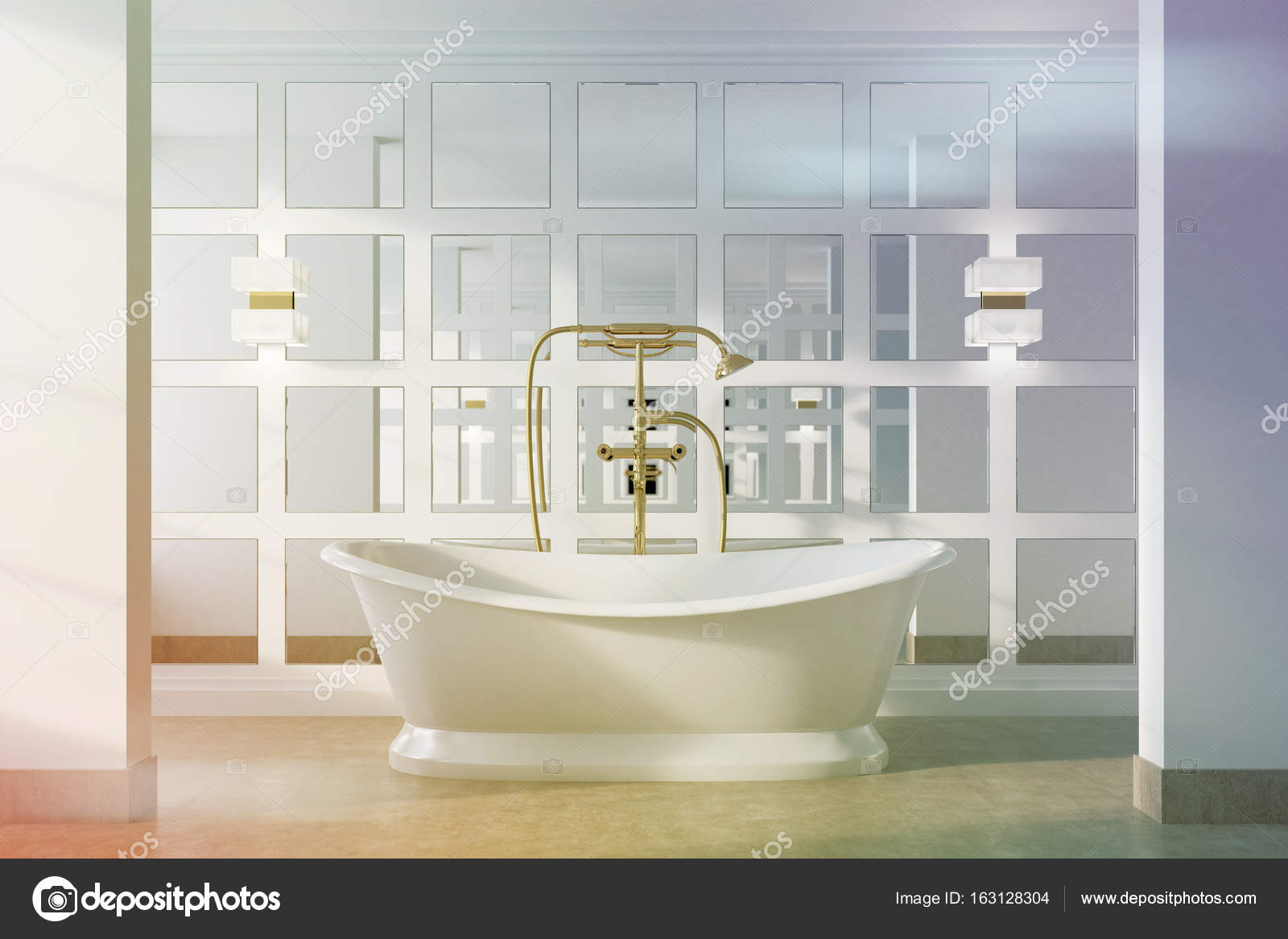 Vasca Da Bagno White : Arredare il bagno in stile shabby chic vasca da bagno al centro