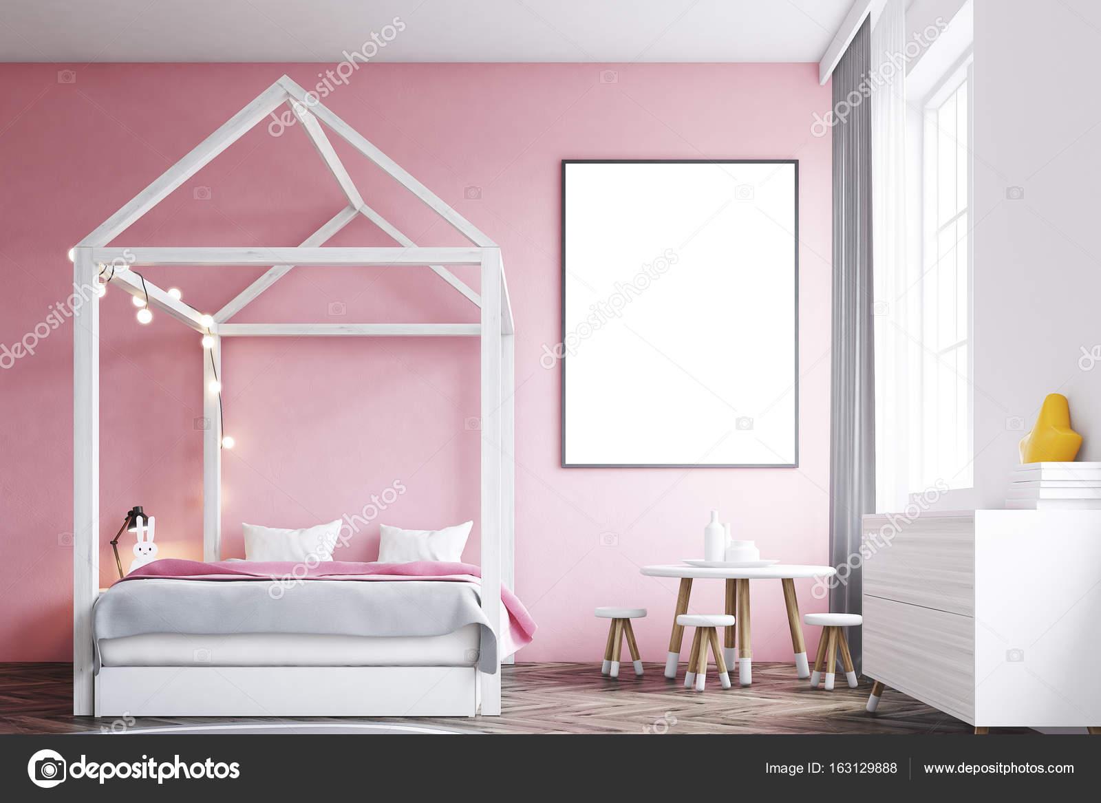 Stanza Da Letto Ragazza : Poster di interni camera da letto ragazza s u foto stock