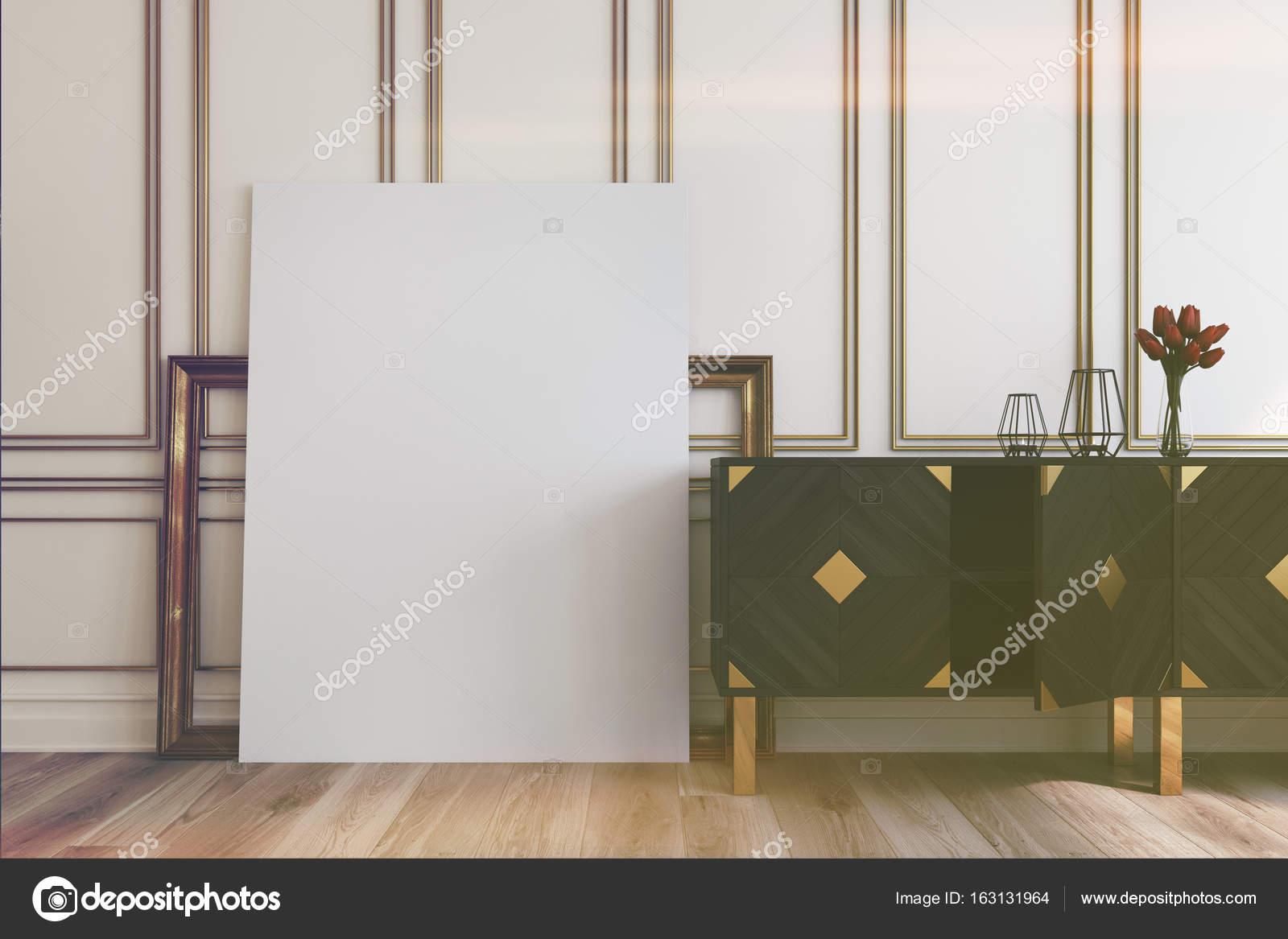 Vintage Schrank und ein Bild, Rahmen, getönt — Stockfoto ...