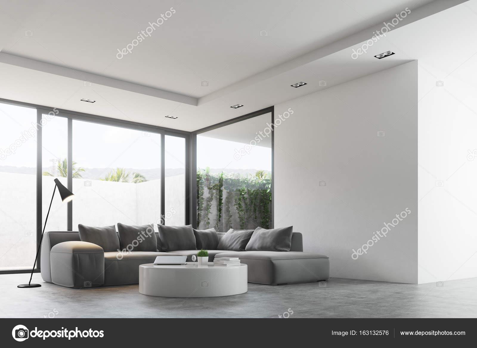 Living room round table, sofa, corner — Stock Photo © denisismagilov ...