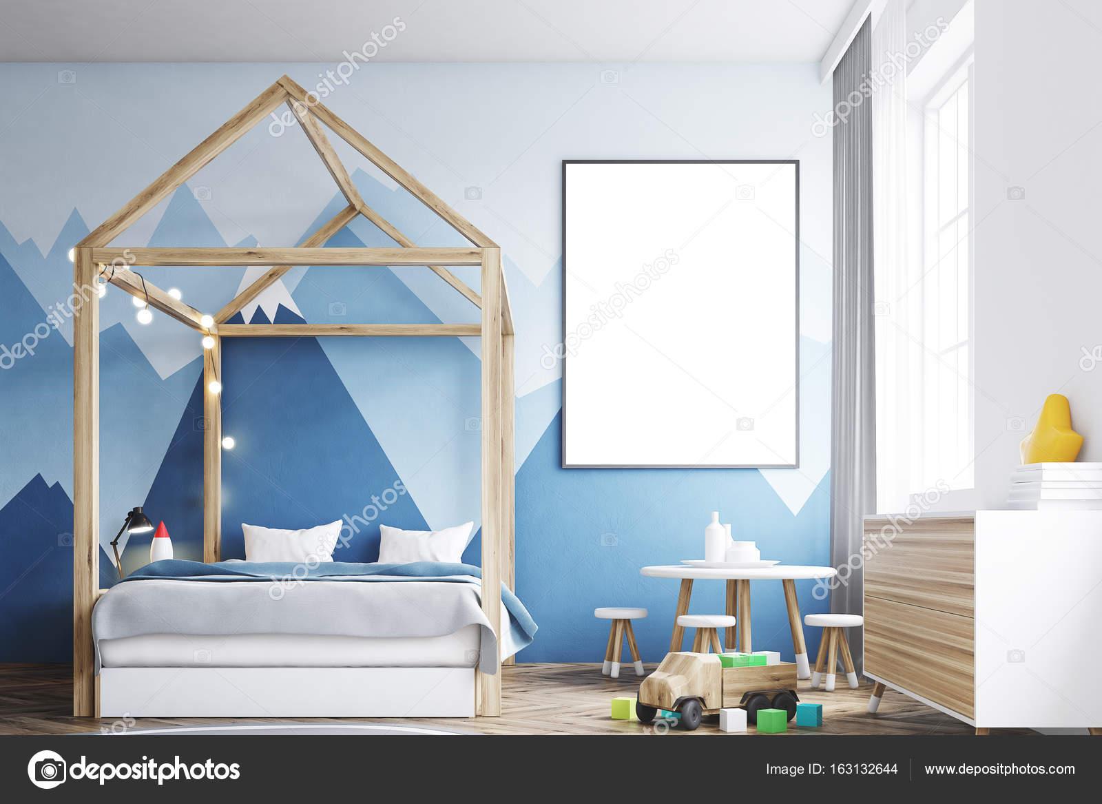Kid s bedroom interior, poster — Stock Photo