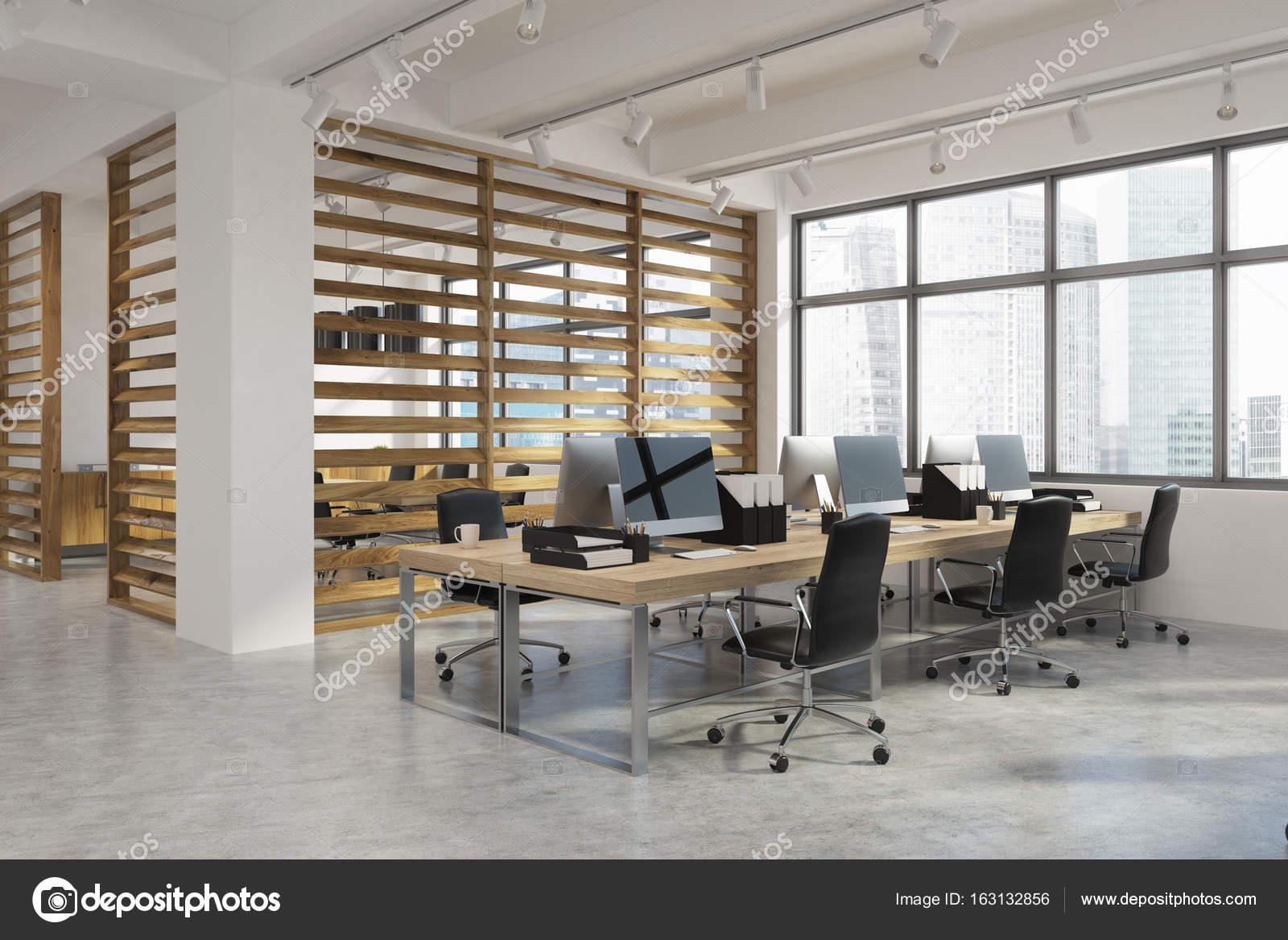 Interieur De Bureau Ouvert Avec Murs De Planche