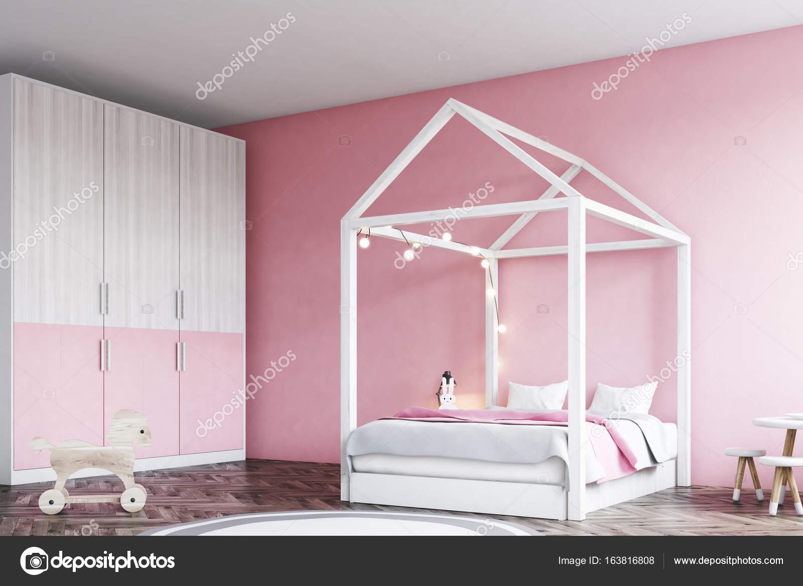 Meisje s slaapkamer interieur hoek u2014 stockfoto © denisismagilov