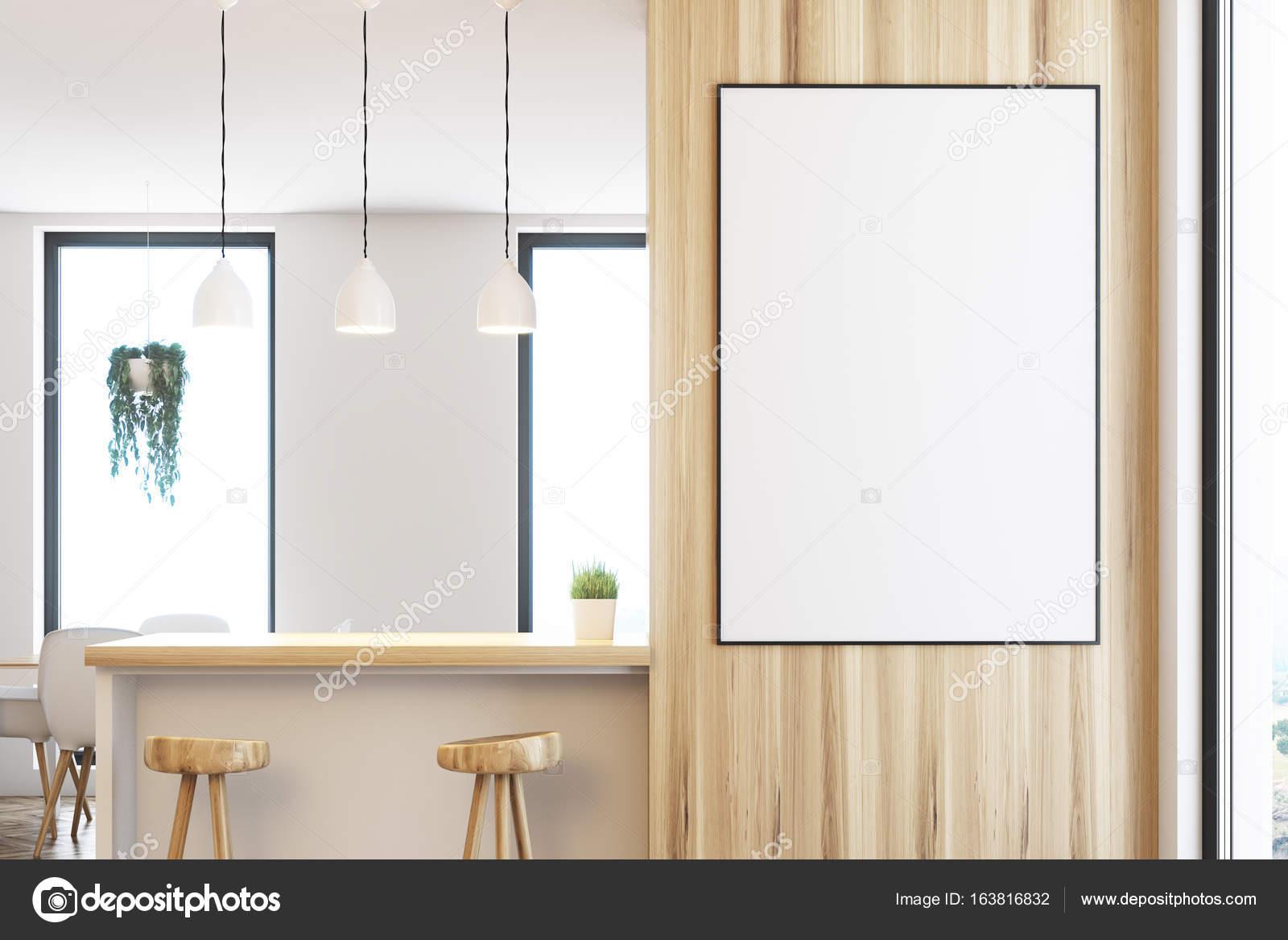 Weiß und Holz Küchenbar, poster — Stockfoto © denisismagilov #163816832