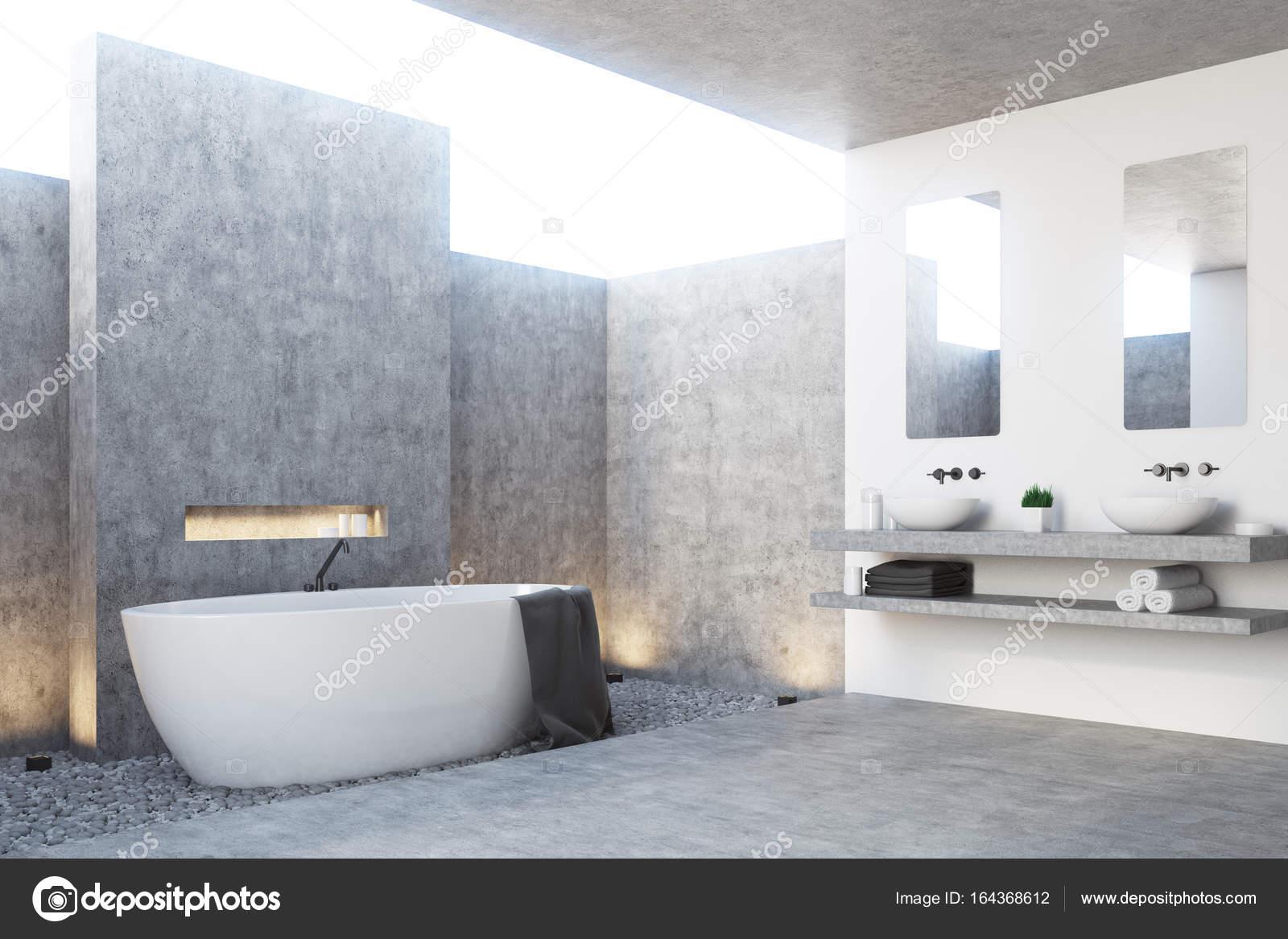 Graue Badezimmer Interieur, Ecke — Stockfoto © denisismagilov #164368612