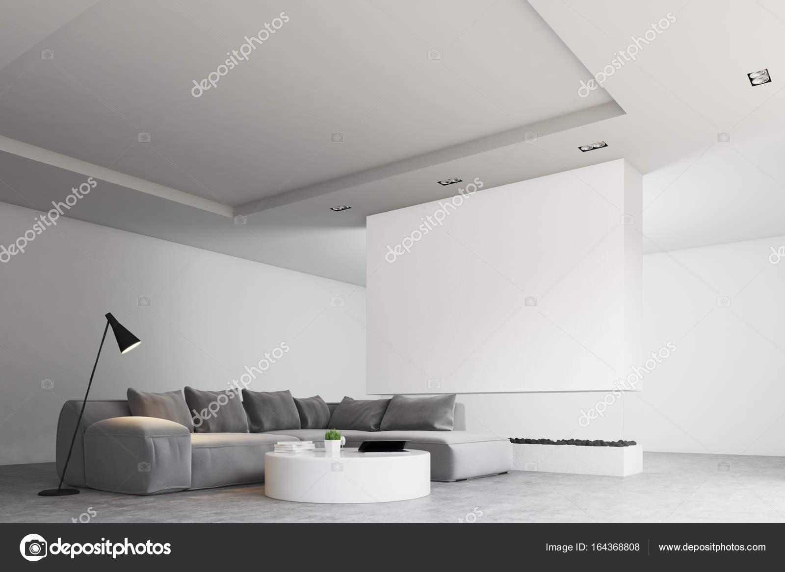 Living room round table, sofa, side — Stock Photo © denisismagilov ...