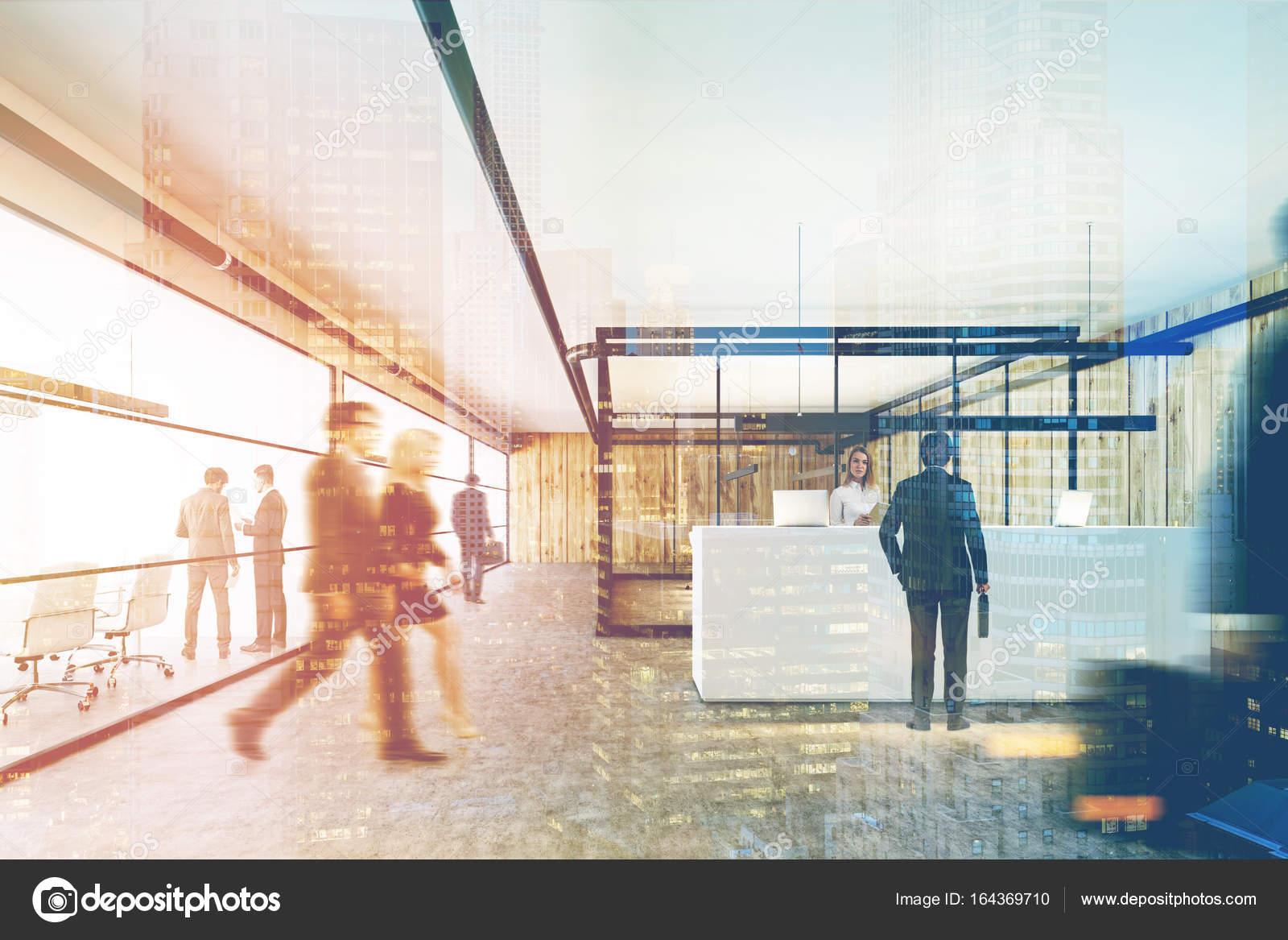 Ufficio Vetro E Legno : Ufficio in legno e vetro una reception bianca doppia u foto