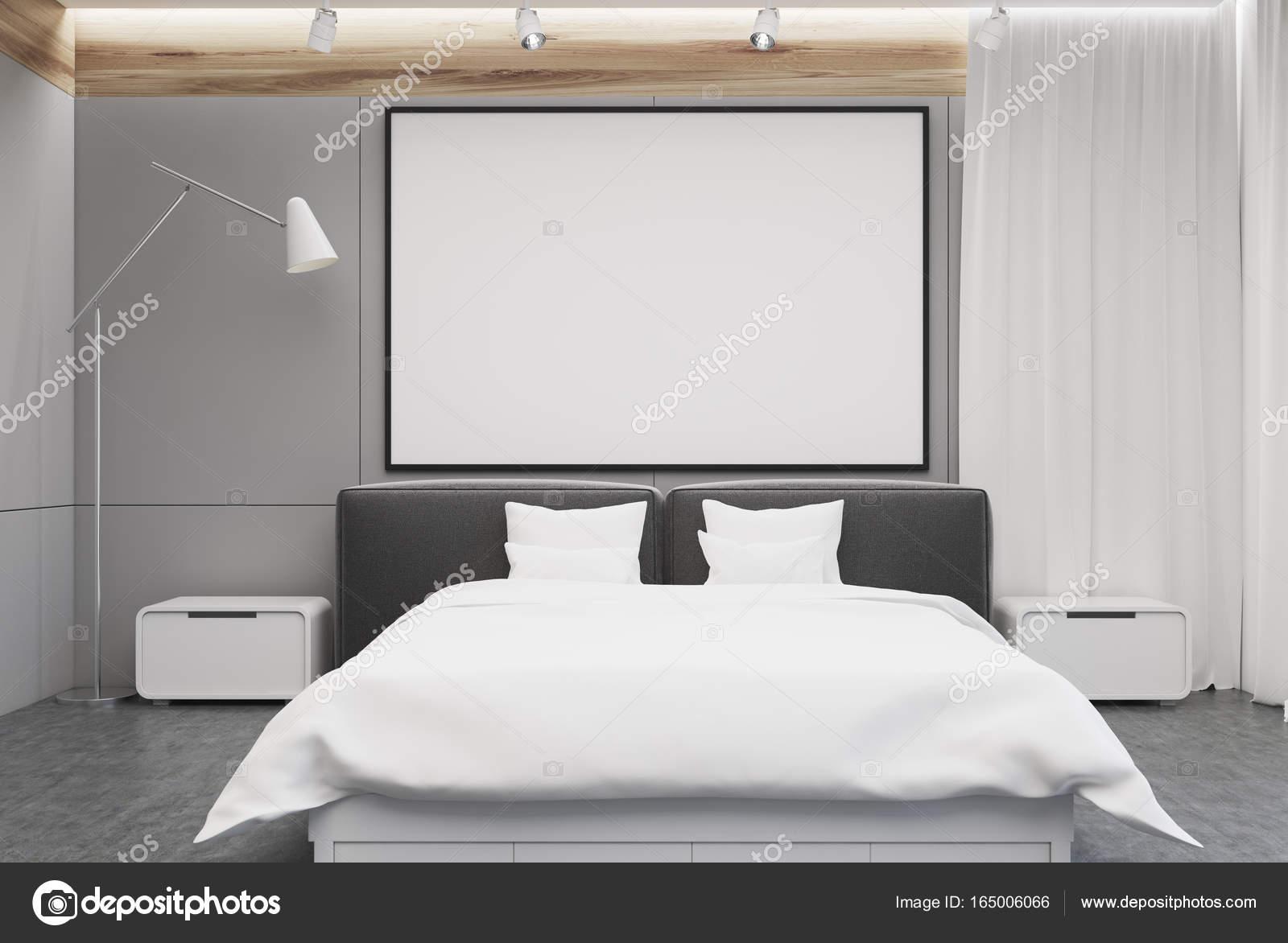 Grijs Wit Slaapkamer : Grijze en witte slaapkamer interieur foto u2014 stockfoto