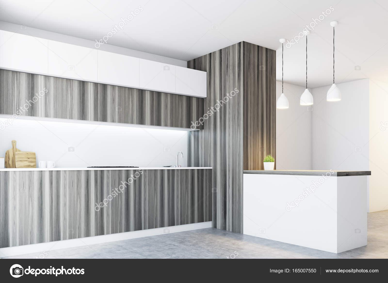 Weiße Holzküche, Arbeitsplatten, Seite — Stockfoto © denisismagilov ...