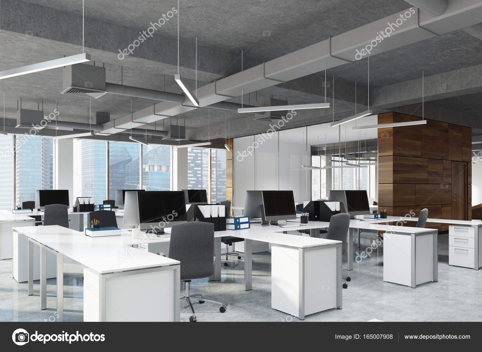 Spazio aperto uffici e sale riunioni camera lato foto - Immagini di uffici ...