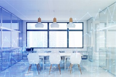 Modern conference room, double