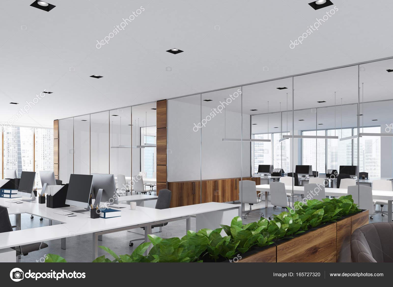 Ufficio Bianco E Legno : Bianco e legno aprire ufficio e sala riunioni u foto stock