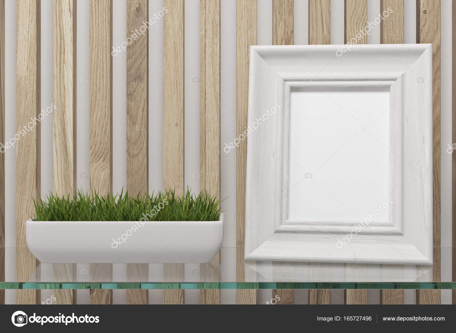 Framed photo on a glass table — Stock Photo © denisismagilov #165727496