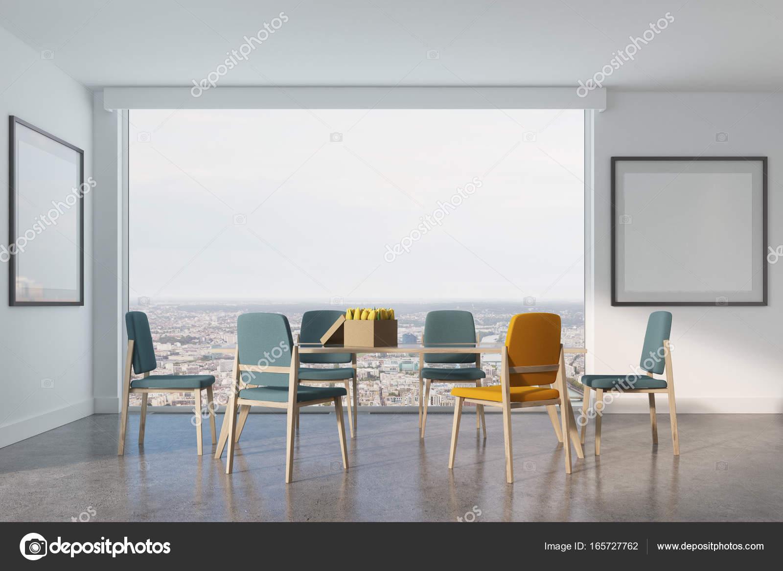 Weißen Esszimmer, zwei Plakate — Stockfoto © denisismagilov #165727762