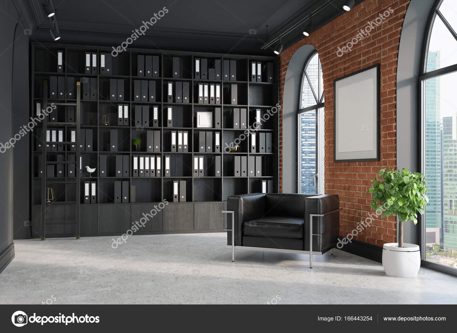 CEO bureau, boekenkast en fauteuil — Stockfoto © denisismagilov ...