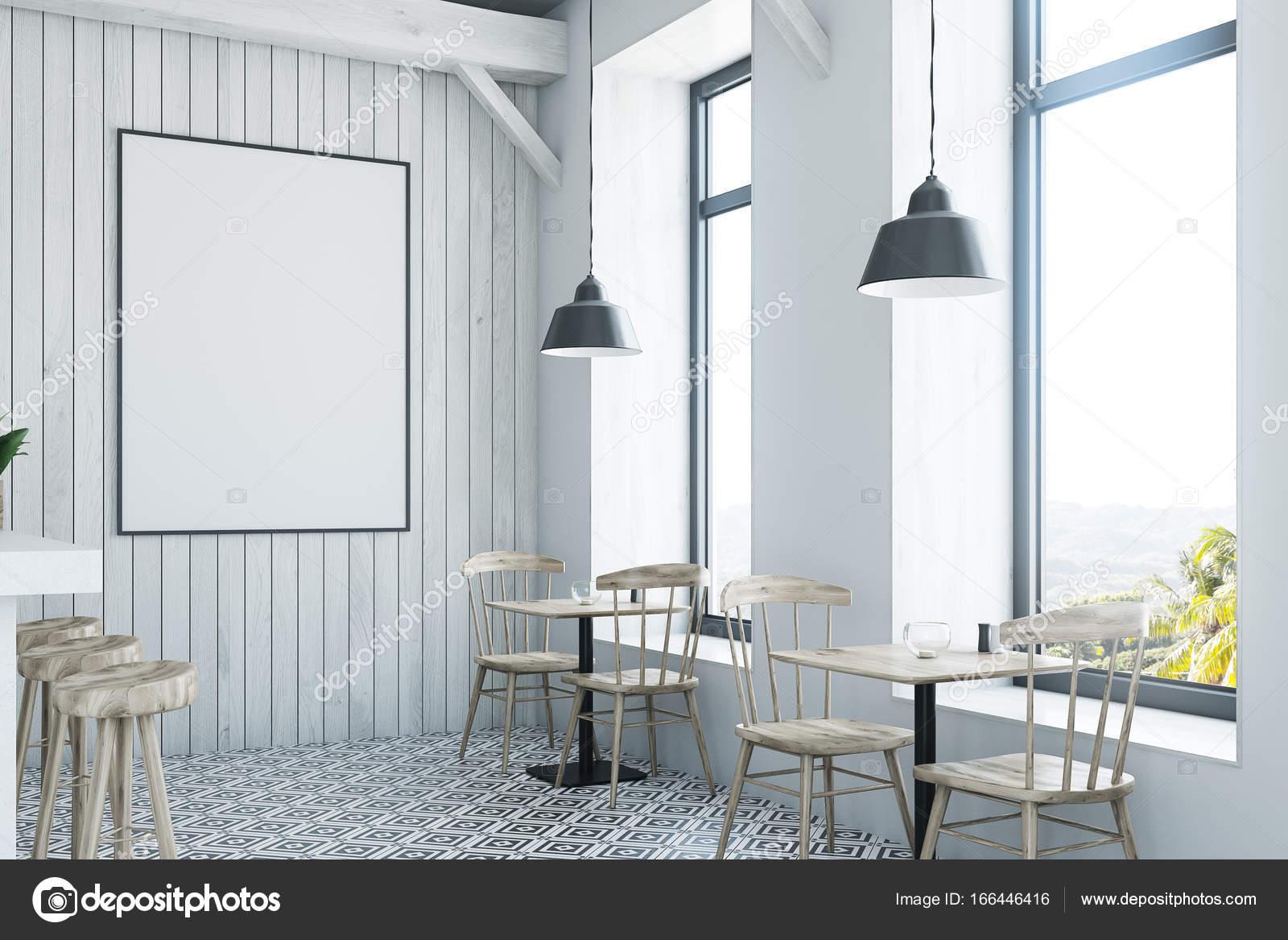 Bar in legno bianco basamento bianco e laterali u2014 foto stock
