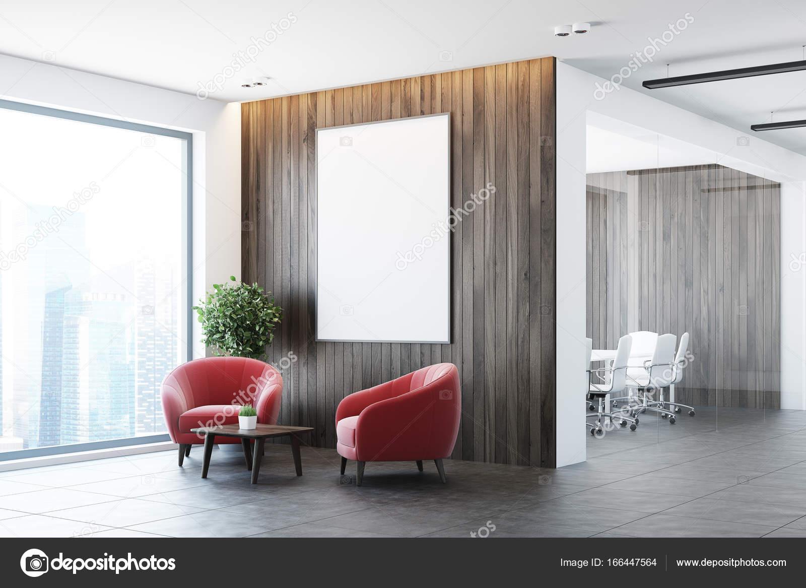 Ufficio Bianco E Legno : Bianco e legno ufficio sala d attesa lato poltrone u foto stock