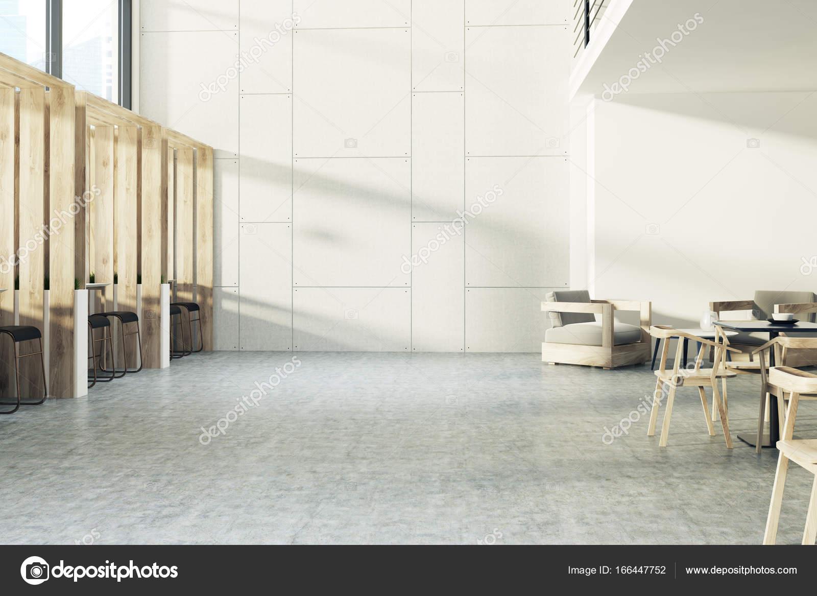 Interno della plancia café sgabelli u foto stock denisismagilov