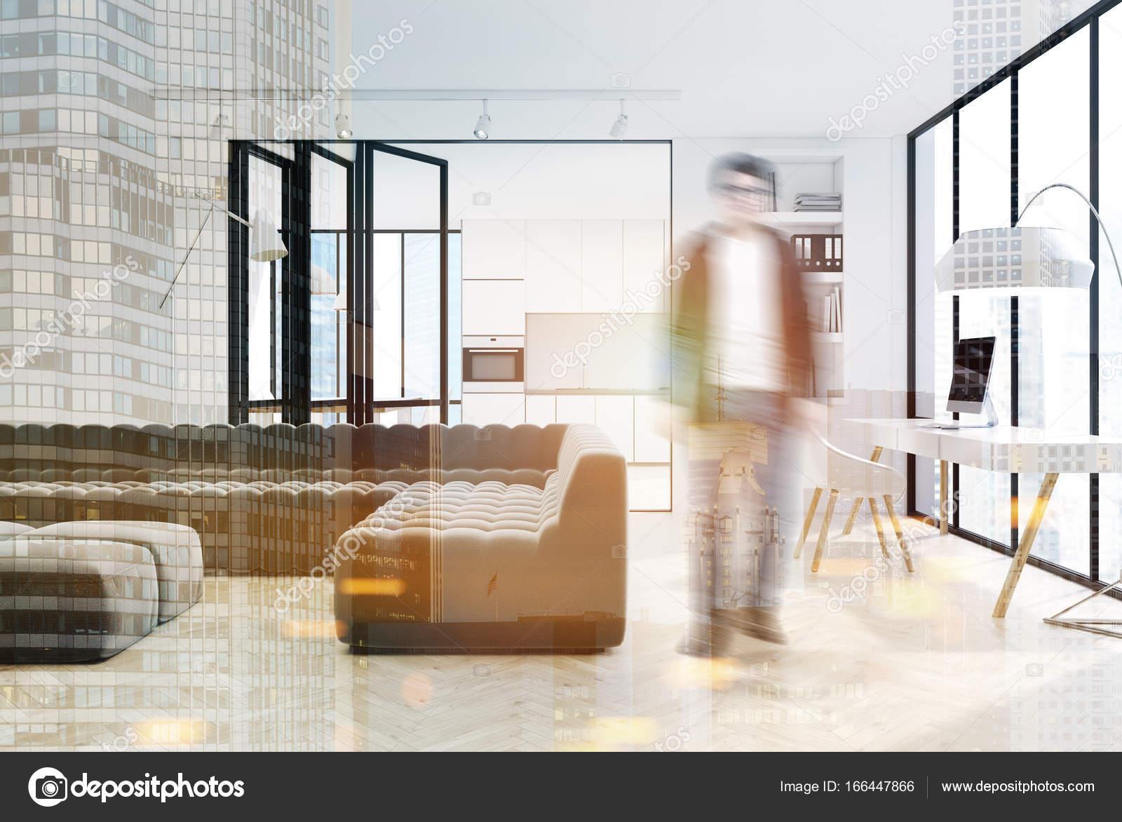 Woonkamer Zwarte Bank : Zwarte binnenlandse d van de woonkamer stock illustratie