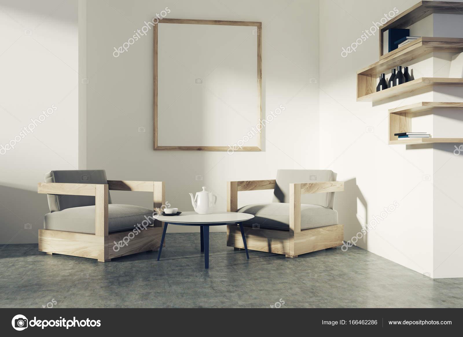 Wit woonkamer, Fauteuils, poster — Stockfoto © denisismagilov #166462286