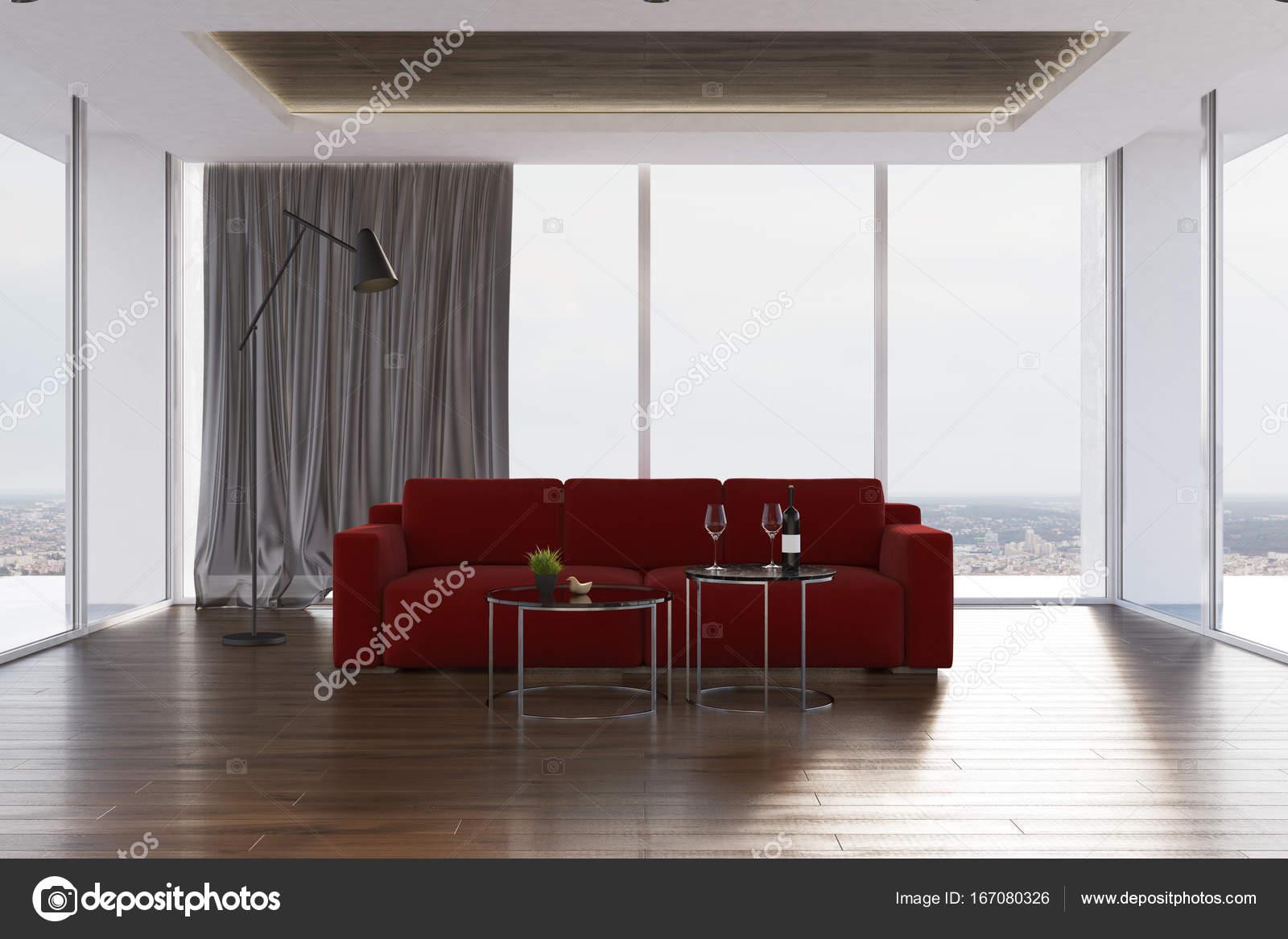 Loft living room, red sofa — Stock Photo © denisismagilov ...