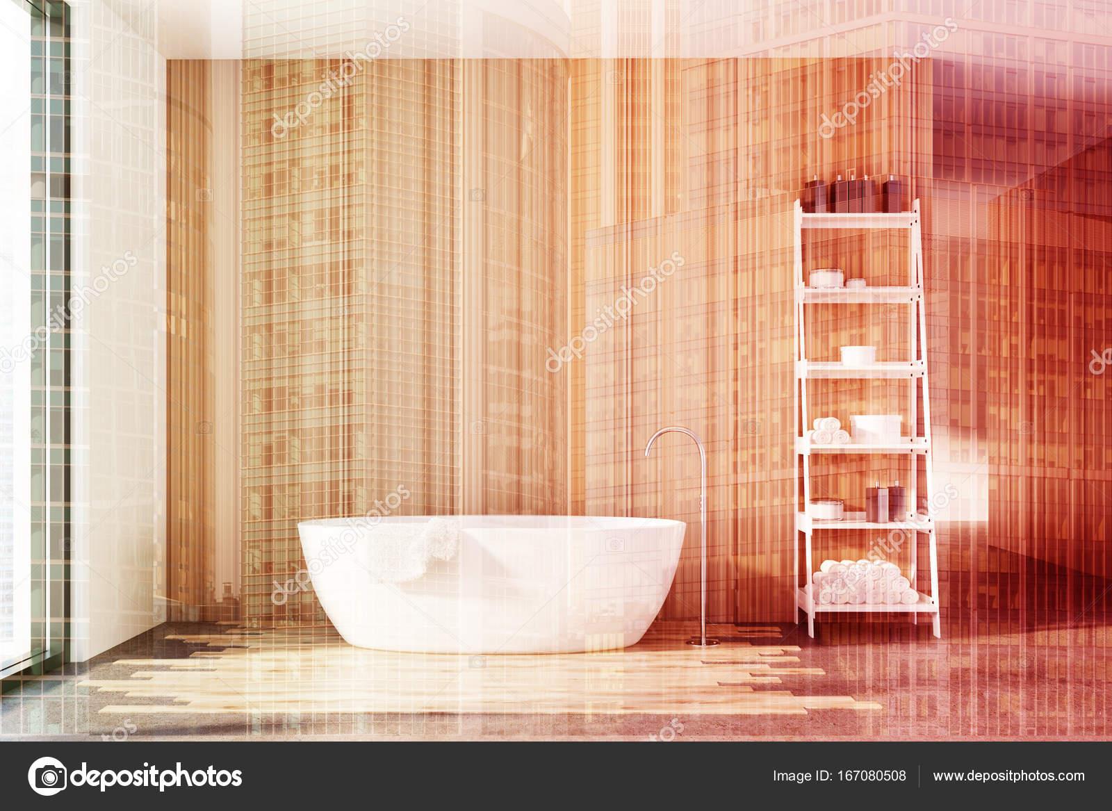 Półki W łazience Drewniany Biały Z Hydromasażem Podwójna