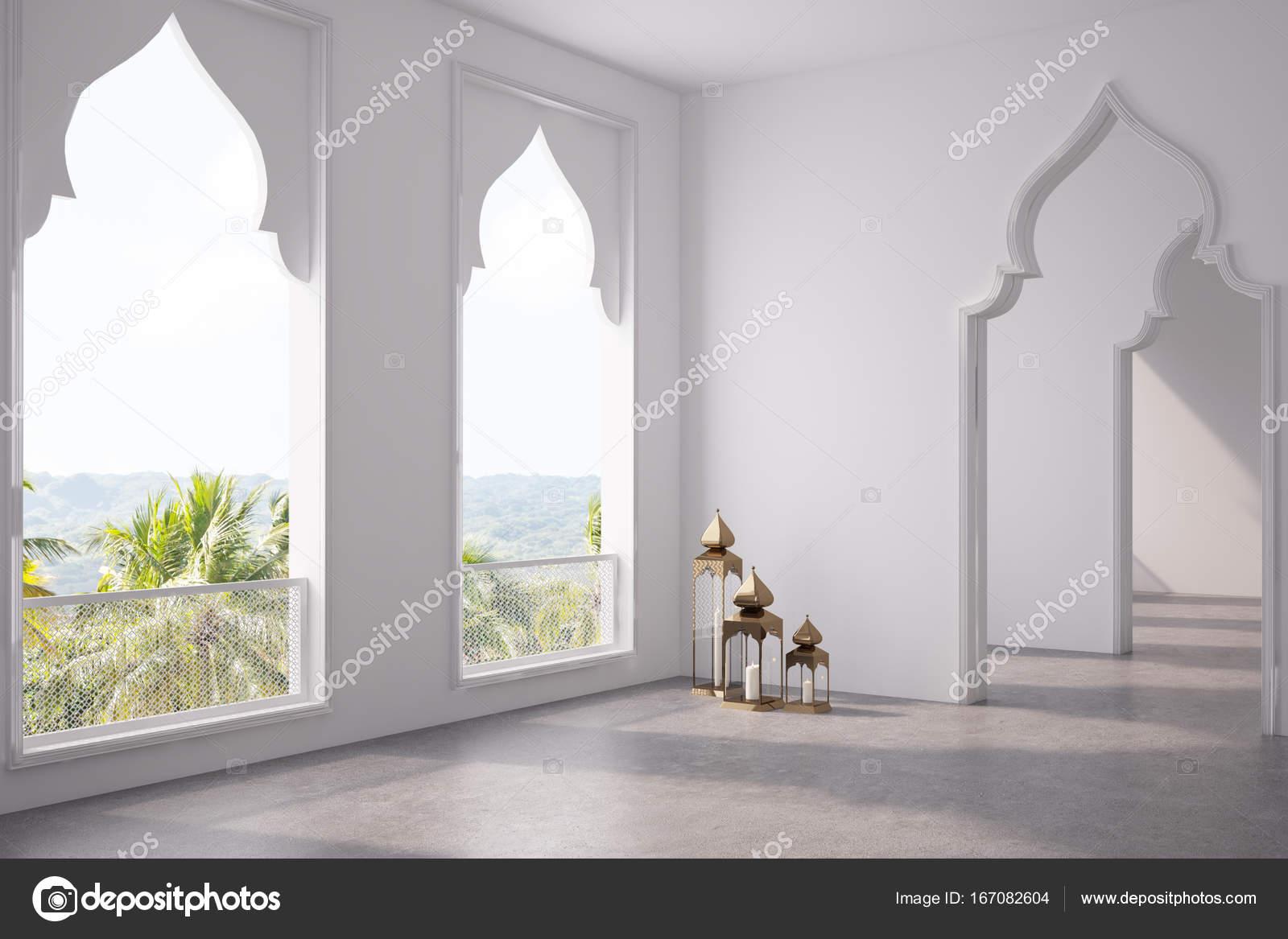 Arabische Inrichting Slaapkamer : Lege ruimte arabische stijl deuren venster kant u stockfoto