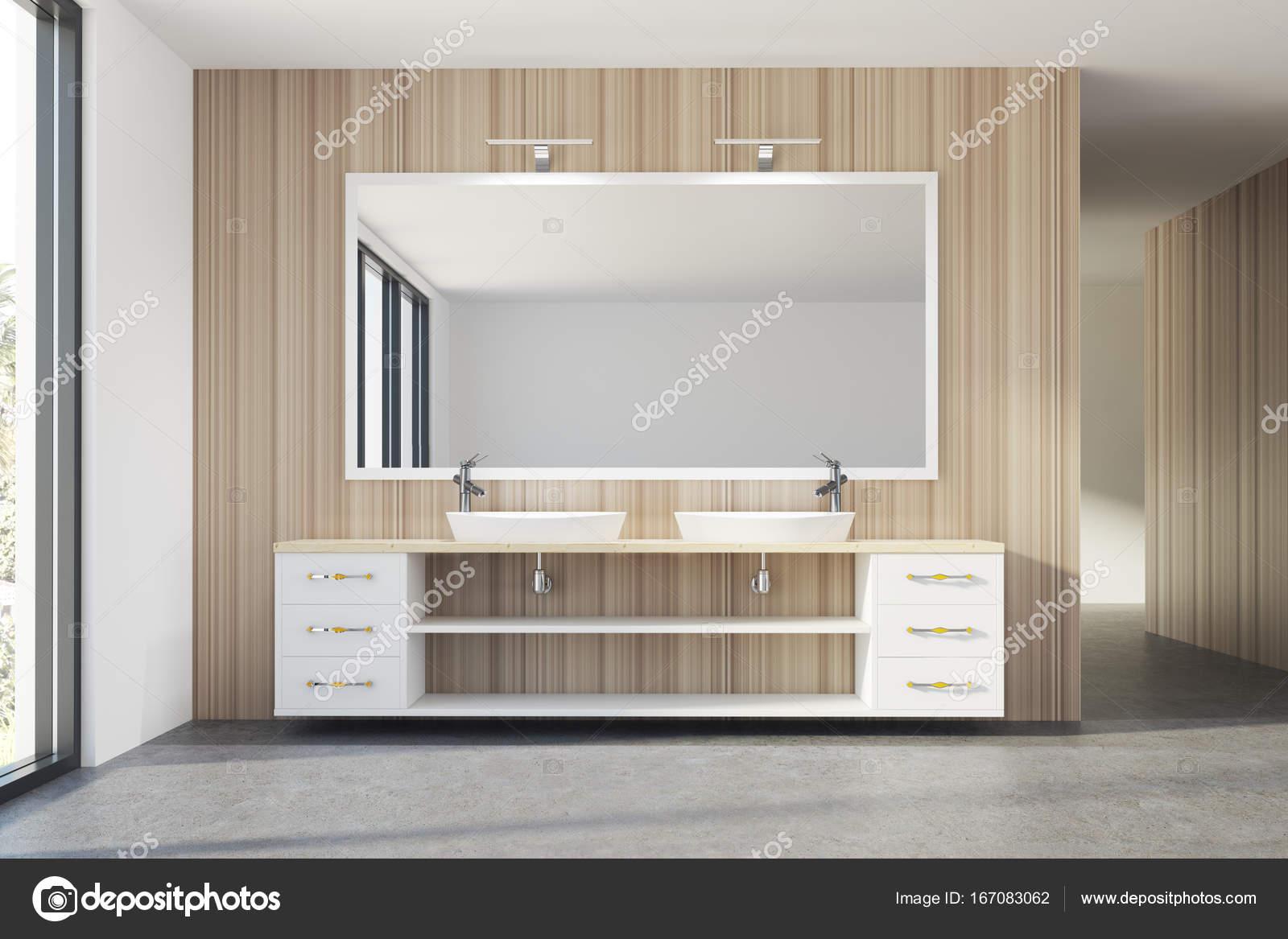 Aus Holz Bad, Doppelwaschbecken — Stockfoto © denisismagilov #167083062