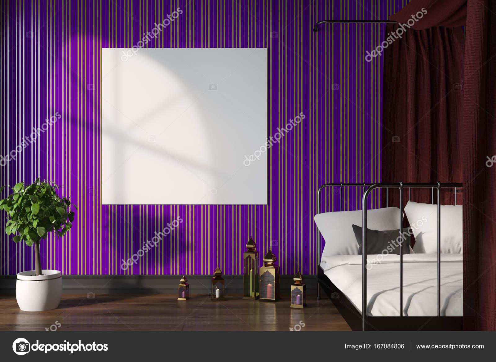 Camere Da Letto Viola : Camera da letto viola poster u foto stock denisismagilov