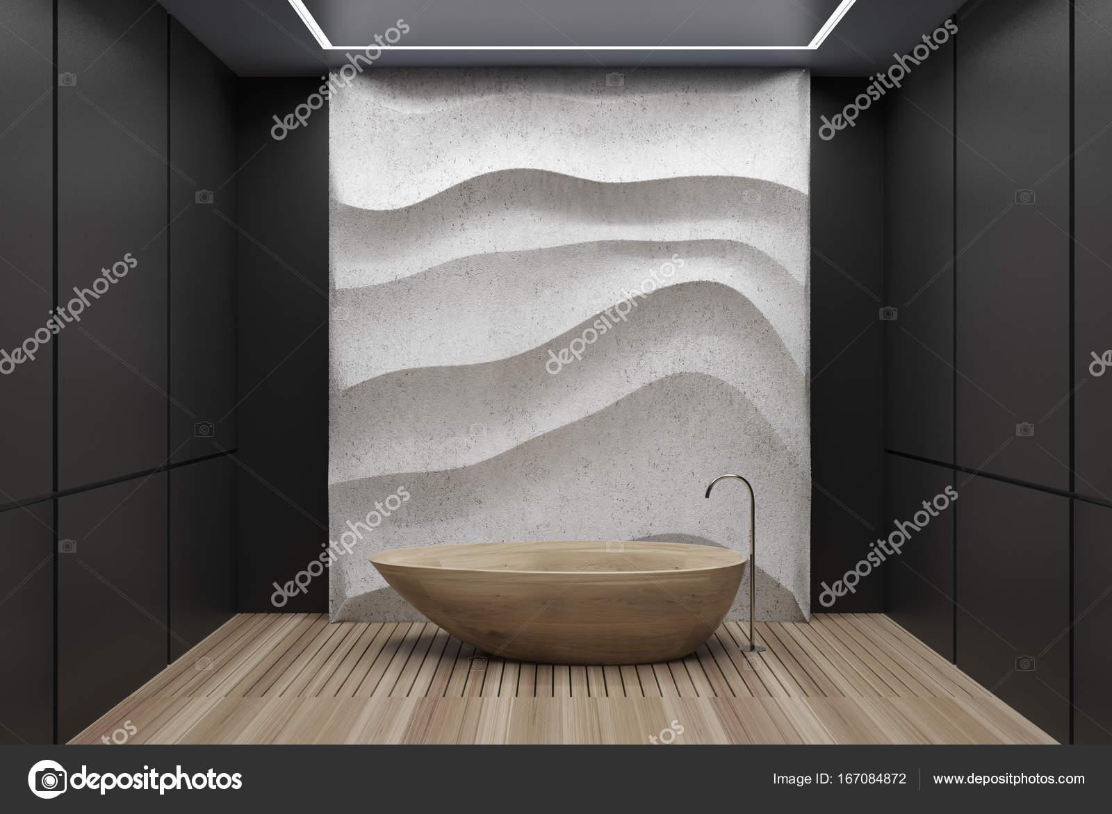 Schwarz Weiß Bad schwarz weiß bad holzbottich stockfoto denisismagilov 167084872