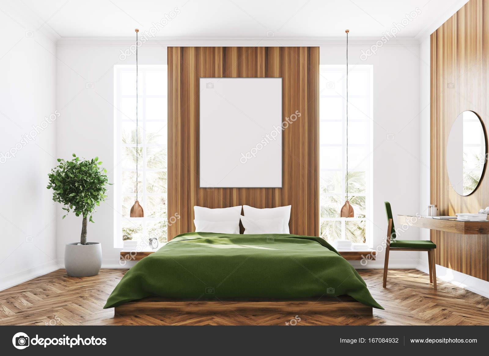 Camera da letto bianca e legno, poster — Foto Stock © denisismagilov ...