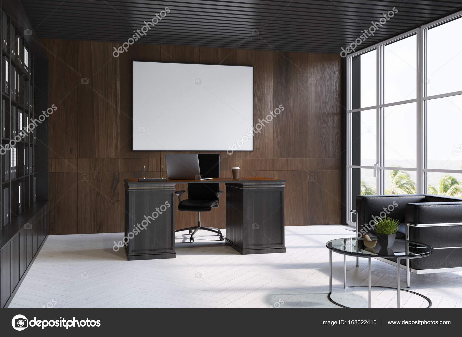 Affiche intérieure de sombres bois bureau de pdg côté